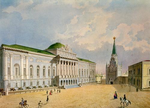 Старое здание Оружейной палаты, построенное по проекту Ивана Еготова, 1845 год