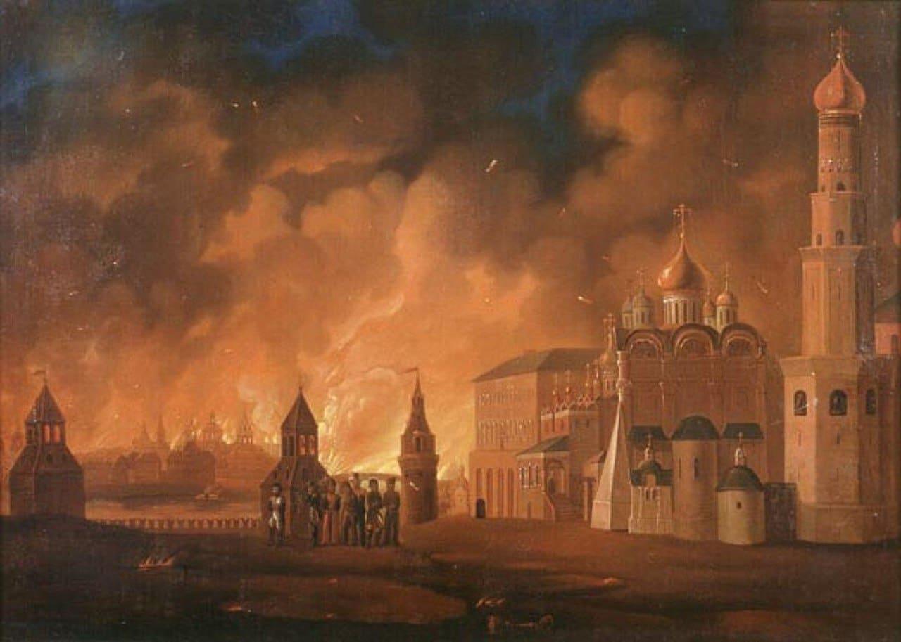 Пожар Москвы на полотне А. Ф. Смирнова