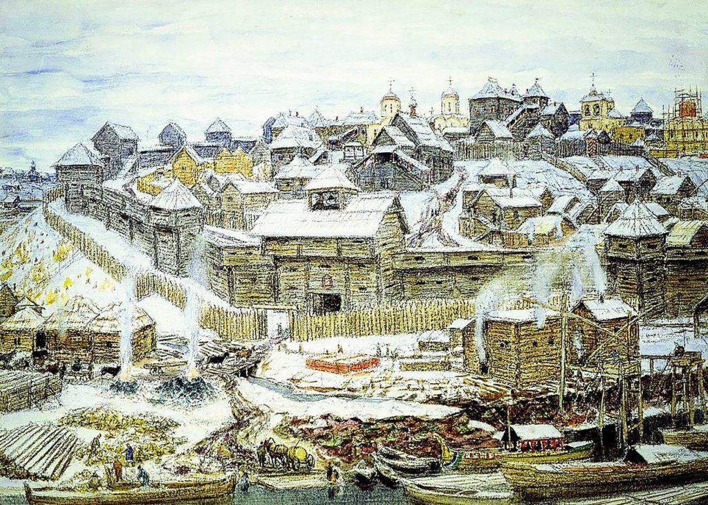 Кремль при Иване Калите, картина А. М. Васнецова