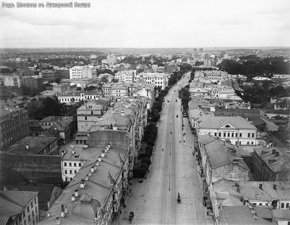 Вид на 1-ю Мещанскую улицу с Сухаревой башни
