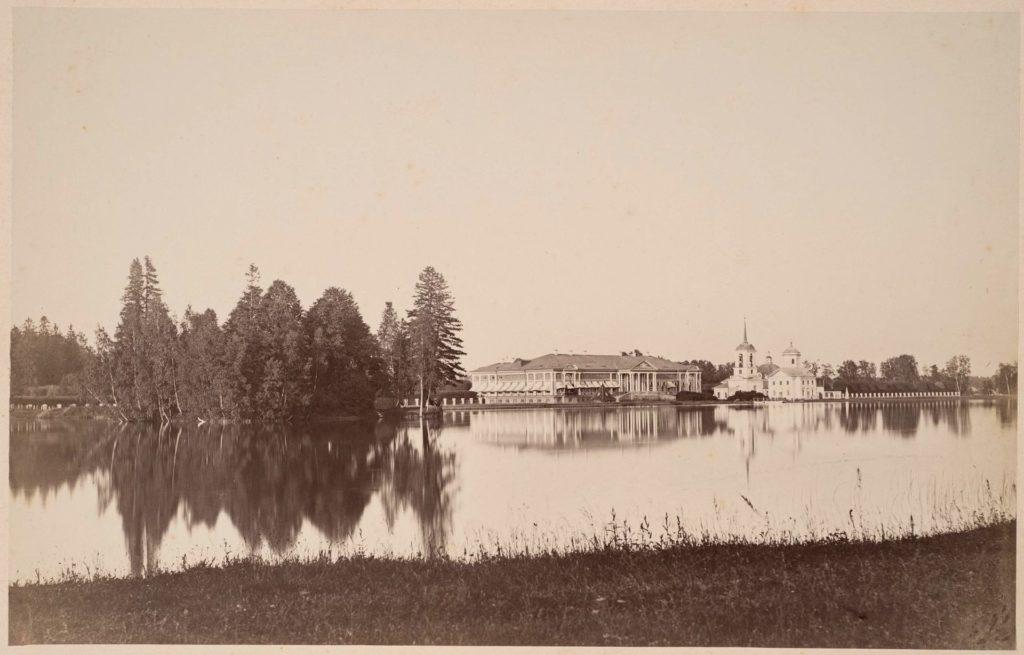 Панорама усадьбы Кусково. 1885-1889 гг.