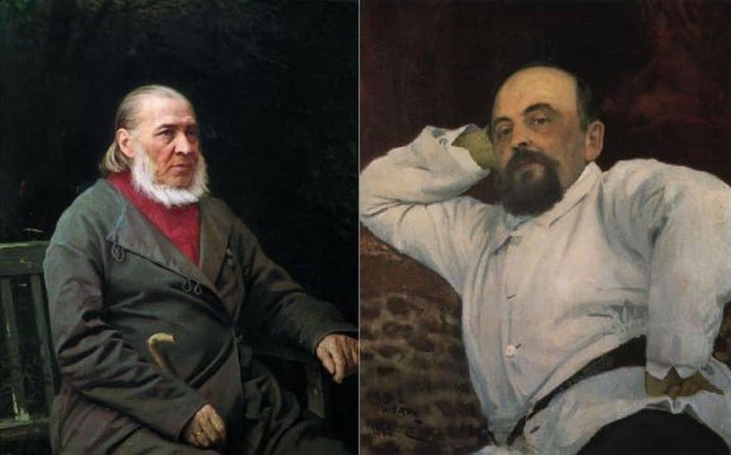 Сергей Аксаков и Савва Мамонтов
