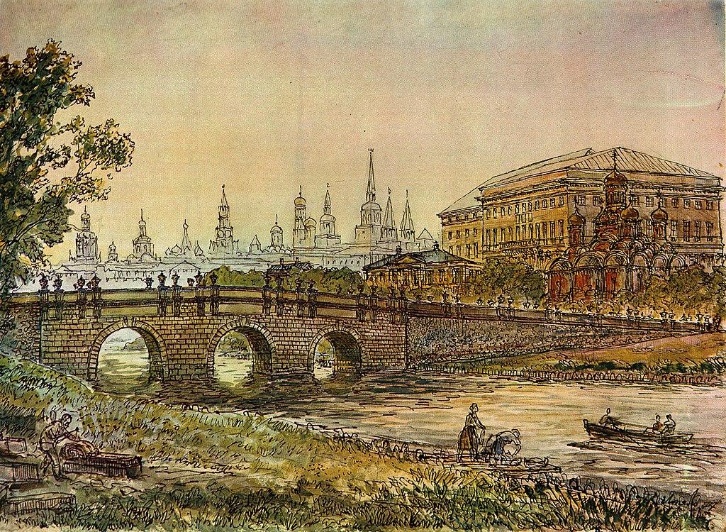 Кузнецкий мост через реку Неглиная в XVIII веке