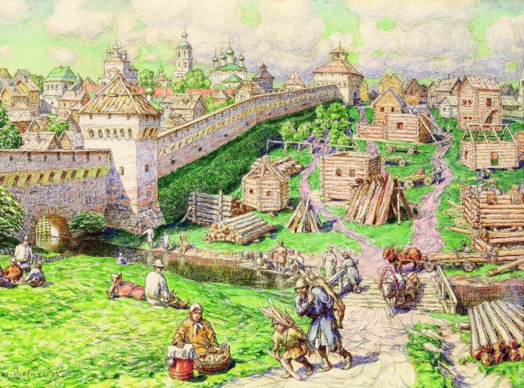 «Труба». Рисунок А. М. Васнецова.
