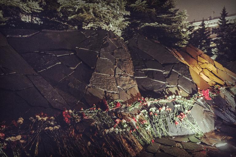 Стена скорби в Москве - памятник жертвам политических репрессий