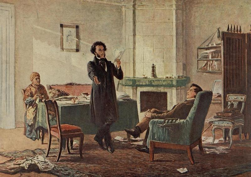 Александр Сергеевич Пушкин в селе Михайловском (Н.Н. Ге)
