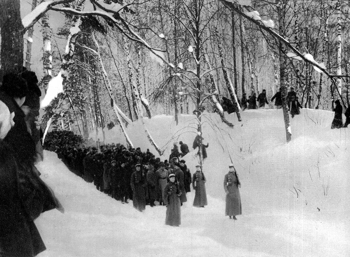 Транспортировка тела Ленина к станции, 1924 год