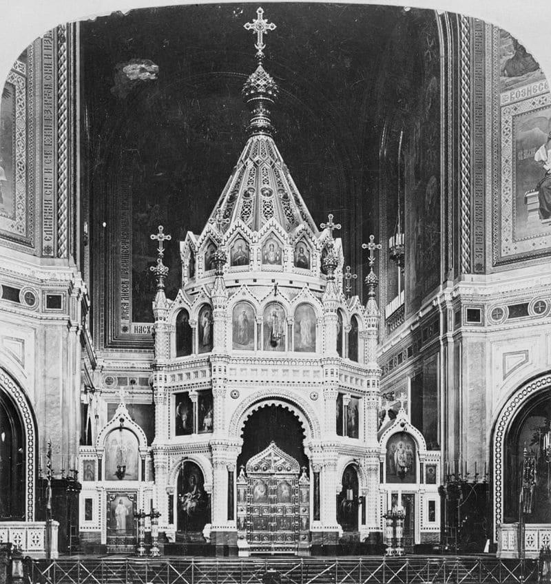 Интерьер храма, 1881 год