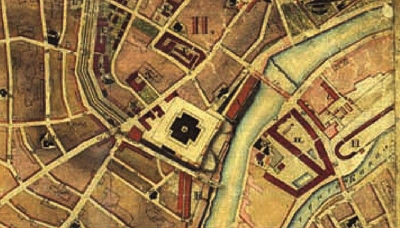 Храм Христа Спасителя на «Топографическом плане города Москвы» в 1838—1839 годах