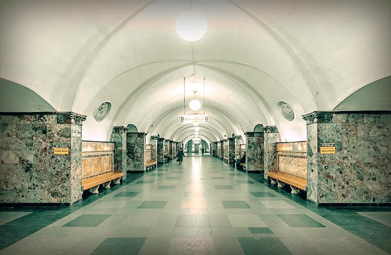 "Станция Московского метро ""Динамо"", 2016 год."