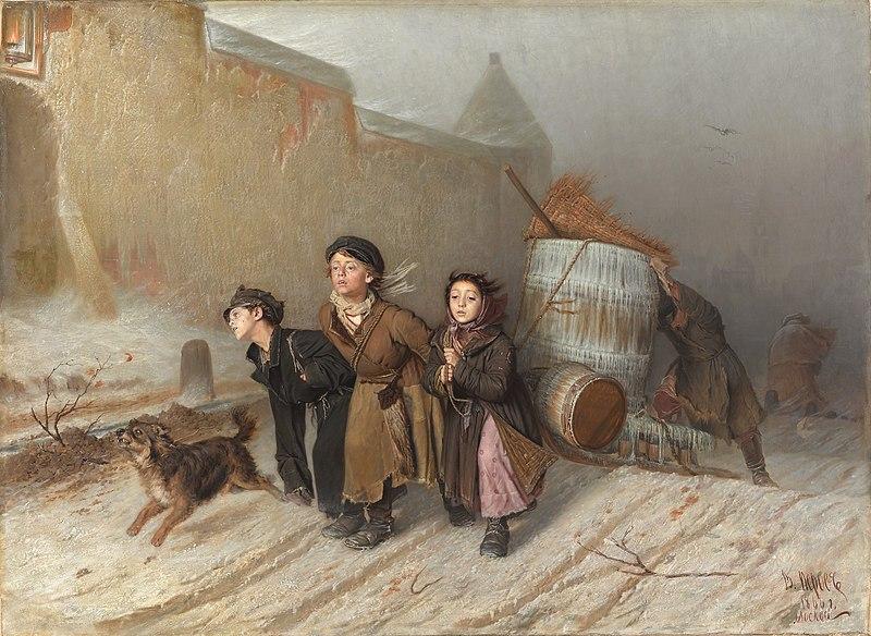 Тройка. - Василий Григорьевич Перов, 1866 год