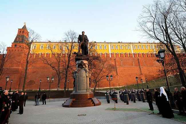 Торжественное открытие памятника императору Александру I. фото: Kremlin.ru / CC BY (https://creativecommons.org/licenses/by/3.0)