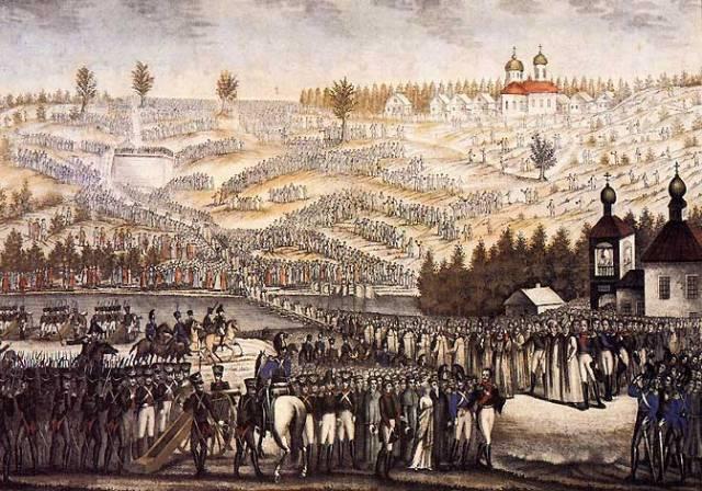 Закладка храма Христа Спасителя на Воробьёвых горах, 1817 год