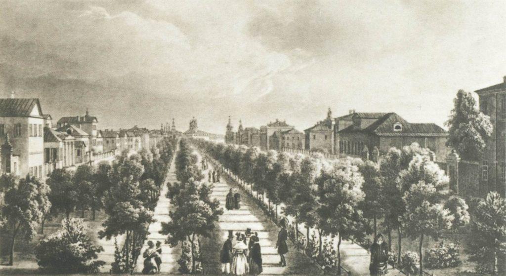 Бульвар в 1825 году