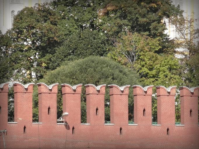 Мерлоны на кремлёвской стене, 2014 год.