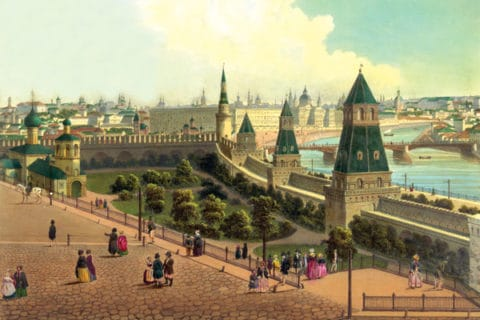 Тайницкий сад в Московском Кремле, 19 век