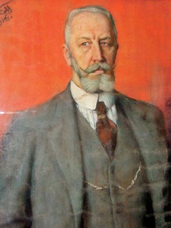 Портрет Петра Перцова, выполнен Сергеем Малютиным, 1916 год