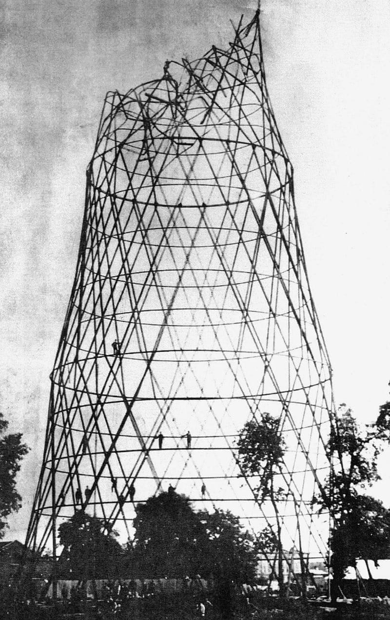 Башня на Шаболовке после аварии, 1921 год