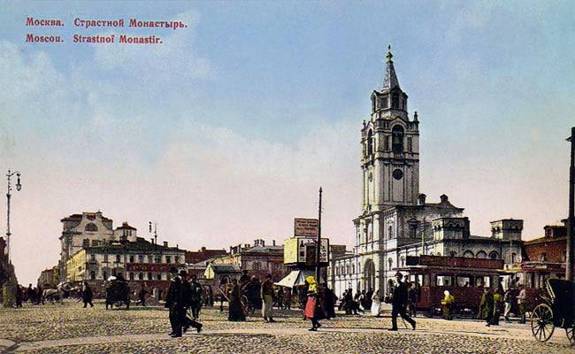 Страстной монастырь, 1917 год