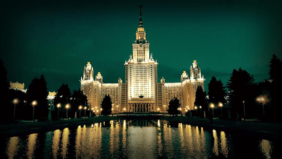 Главное здание МГУ - шедевр на Воробьёвых горах