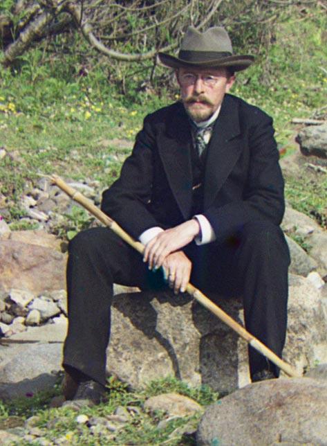 Автопортрет у реки Королисцхали, 1912