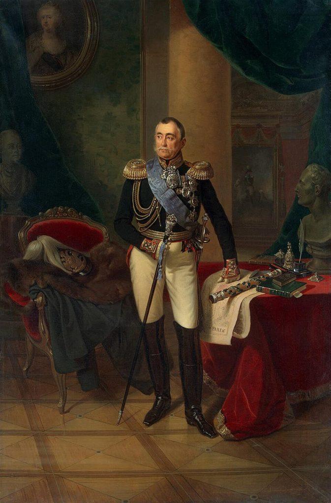 Пётр Волконский на портрете художника Ф. Крюгера, 1850