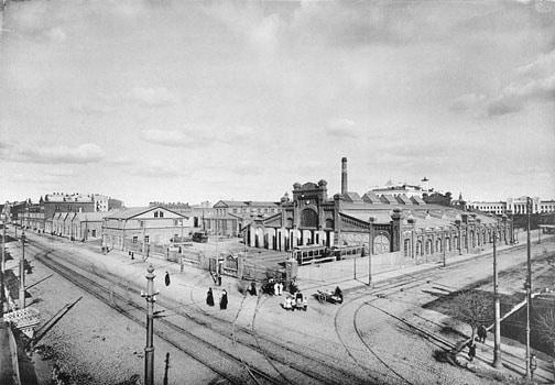Вид на Лесную улицу, начало 1900-х