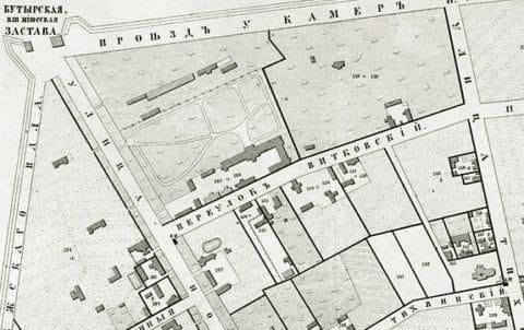 Район Вадковского переулка, 1852 год